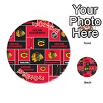 Chicago Blackhawks Nhl Block Fleece Fabric Playing Cards 54 (Round)  Front - Joker2