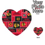 Chicago Blackhawks Nhl Block Fleece Fabric Playing Cards 54 (Heart)  Front - Heart10
