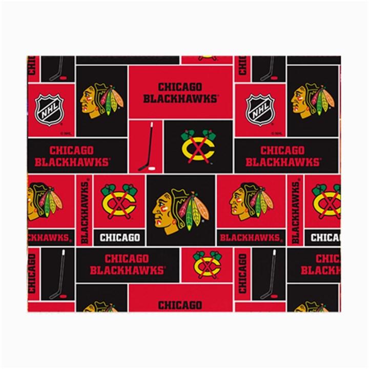 Chicago Blackhawks Nhl Block Fleece Fabric Small Glasses Cloth (2-Side)