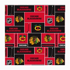 Chicago Blackhawks Nhl Block Fleece Fabric Medium Glasses Cloth