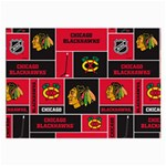 Chicago Blackhawks Nhl Block Fleece Fabric Large Glasses Cloth Front