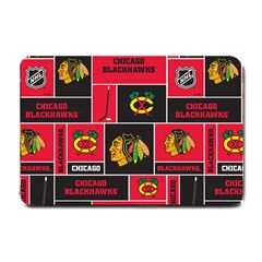 Chicago Blackhawks Nhl Block Fleece Fabric Small Doormat