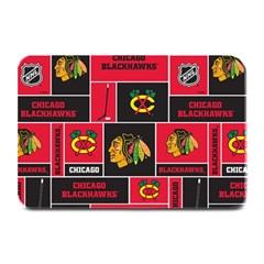 Chicago Blackhawks Nhl Block Fleece Fabric Plate Mats