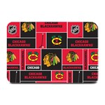 Chicago Blackhawks Nhl Block Fleece Fabric Plate Mats 18 x12 Plate Mat - 1