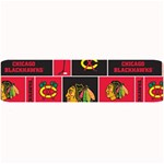 Chicago Blackhawks Nhl Block Fleece Fabric Large Bar Mats 34 x9.03 Bar Mat - 1