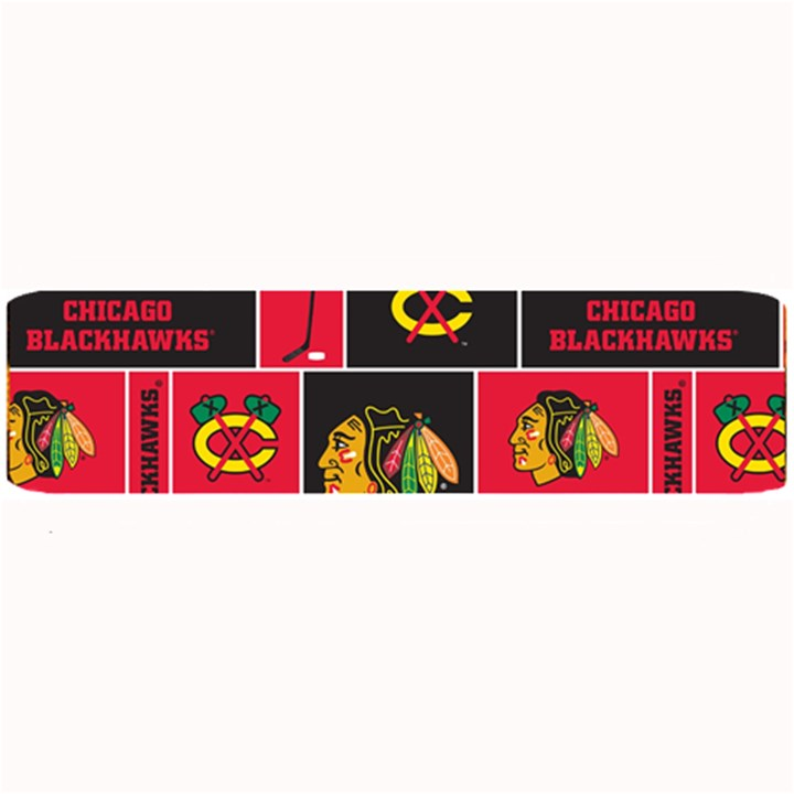 Chicago Blackhawks Nhl Block Fleece Fabric Large Bar Mats