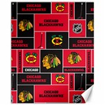 Chicago Blackhawks Nhl Block Fleece Fabric Canvas 11  x 14   14 x11 Canvas - 1