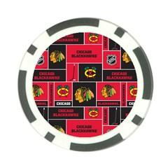 Chicago Blackhawks Nhl Block Fleece Fabric Poker Chip Card Guards