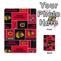 Chicago Blackhawks Nhl Block Fleece Fabric Multi-purpose Cards (Rectangle)