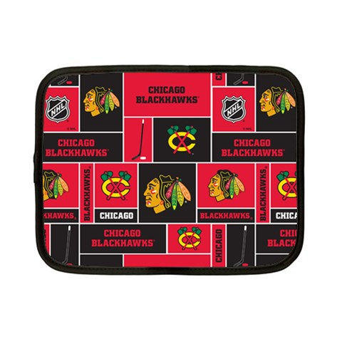 Chicago Blackhawks Nhl Block Fleece Fabric Netbook Case (Small)