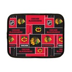 Chicago Blackhawks Nhl Block Fleece Fabric Netbook Case (Small)  Front