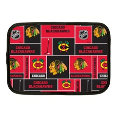 Chicago Blackhawks Nhl Block Fleece Fabric Netbook Case (Medium)