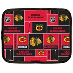 Chicago Blackhawks Nhl Block Fleece Fabric Netbook Case (Large) Front