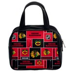 Chicago Blackhawks Nhl Block Fleece Fabric Classic Handbags (2 Sides) Front