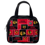 Chicago Blackhawks Nhl Block Fleece Fabric Classic Handbags (2 Sides) Back