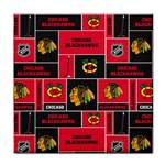 Chicago Blackhawks Nhl Block Fleece Fabric Face Towel Front
