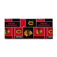 Chicago Blackhawks Nhl Block Fleece Fabric Hand Towel