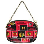Chicago Blackhawks Nhl Block Fleece Fabric Chain Purses (One Side)  Front
