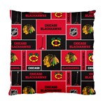 Chicago Blackhawks Nhl Block Fleece Fabric Standard Cushion Case (One Side) Front