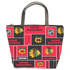 Chicago Blackhawks Nhl Block Fleece Fabric Bucket Bags