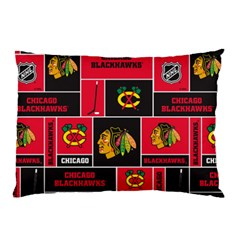 Chicago Blackhawks Nhl Block Fleece Fabric Pillow Case
