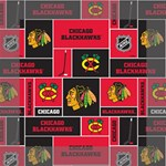 Chicago Blackhawks Nhl Block Fleece Fabric Mini Canvas 6  x 6  6  x 6  x 0.875  Stretched Canvas