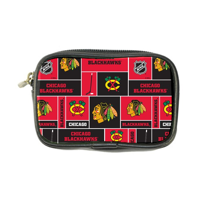 Chicago Blackhawks Nhl Block Fleece Fabric Coin Purse