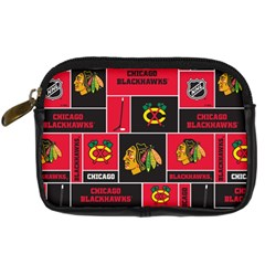 Chicago Blackhawks Nhl Block Fleece Fabric Digital Camera Cases