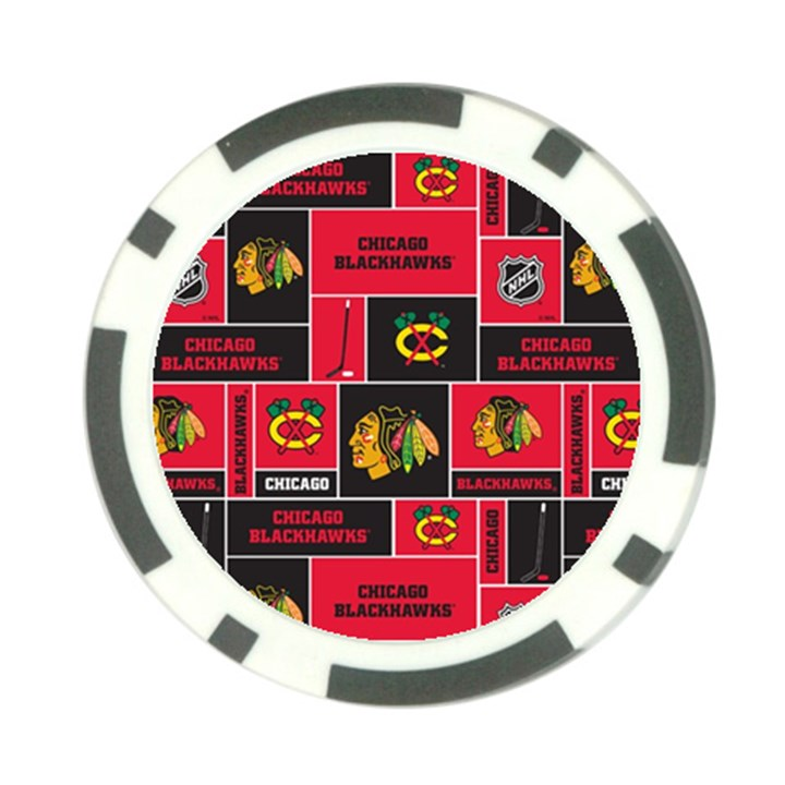 Chicago Blackhawks Nhl Block Fleece Fabric Poker Chip Card Guards (10 pack)