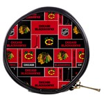 Chicago Blackhawks Nhl Block Fleece Fabric Mini Makeup Bags Front