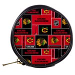 Chicago Blackhawks Nhl Block Fleece Fabric Mini Makeup Bags Back