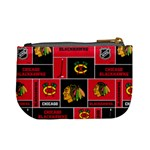 Chicago Blackhawks Nhl Block Fleece Fabric Mini Coin Purses Back
