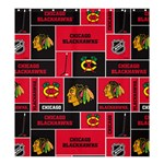 Chicago Blackhawks Nhl Block Fleece Fabric Shower Curtain 66  x 72  (Large)  58.75 x64.8 Curtain