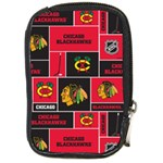 Chicago Blackhawks Nhl Block Fleece Fabric Compact Camera Cases Front