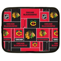 Chicago Blackhawks Nhl Block Fleece Fabric Netbook Case (XXL)