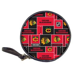 Chicago Blackhawks Nhl Block Fleece Fabric Classic 20 Cd Wallets