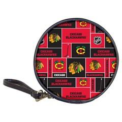 Chicago Blackhawks Nhl Block Fleece Fabric Classic 20-CD Wallets