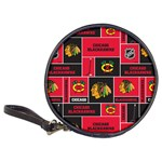 Chicago Blackhawks Nhl Block Fleece Fabric Classic 20-CD Wallets Front