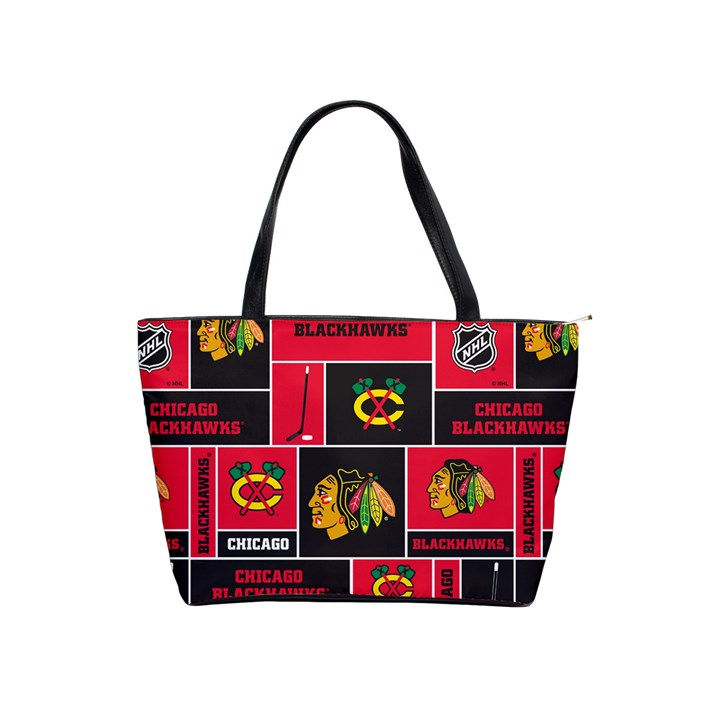 Chicago Blackhawks Nhl Block Fleece Fabric Shoulder Handbags