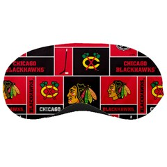 Chicago Blackhawks Nhl Block Fleece Fabric Sleeping Masks