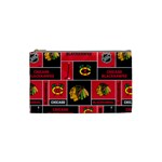 Chicago Blackhawks Nhl Block Fleece Fabric Cosmetic Bag (Small)  Front
