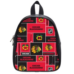 Chicago Blackhawks Nhl Block Fleece Fabric School Bags (small)