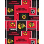 Chicago Blackhawks Nhl Block Fleece Fabric Large Memo Pads 4.125 x5.5  Memopad