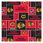 Chicago Blackhawks Nhl Block Fleece Fabric Small Memo Pads 3.75 x3.75  Memopad