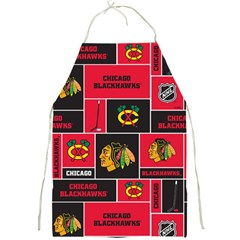 Chicago Blackhawks Nhl Block Fleece Fabric Full Print Aprons