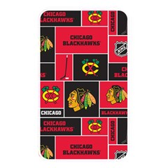 Chicago Blackhawks Nhl Block Fleece Fabric Memory Card Reader
