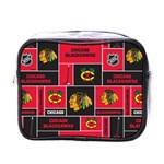 Chicago Blackhawks Nhl Block Fleece Fabric Mini Toiletries Bags Front