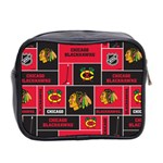 Chicago Blackhawks Nhl Block Fleece Fabric Mini Toiletries Bag 2-Side Back