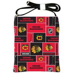 Chicago Blackhawks Nhl Block Fleece Fabric Shoulder Sling Bags