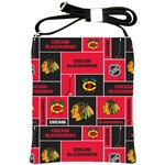 Chicago Blackhawks Nhl Block Fleece Fabric Shoulder Sling Bags Front